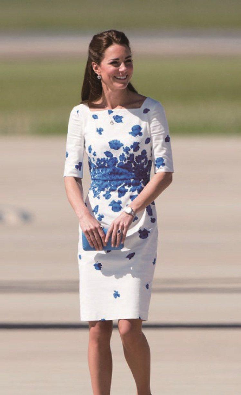 凱特王妃穿L.K.Bennett小洋裝,是輕奢時尚的代表作。圖/Weng Col...