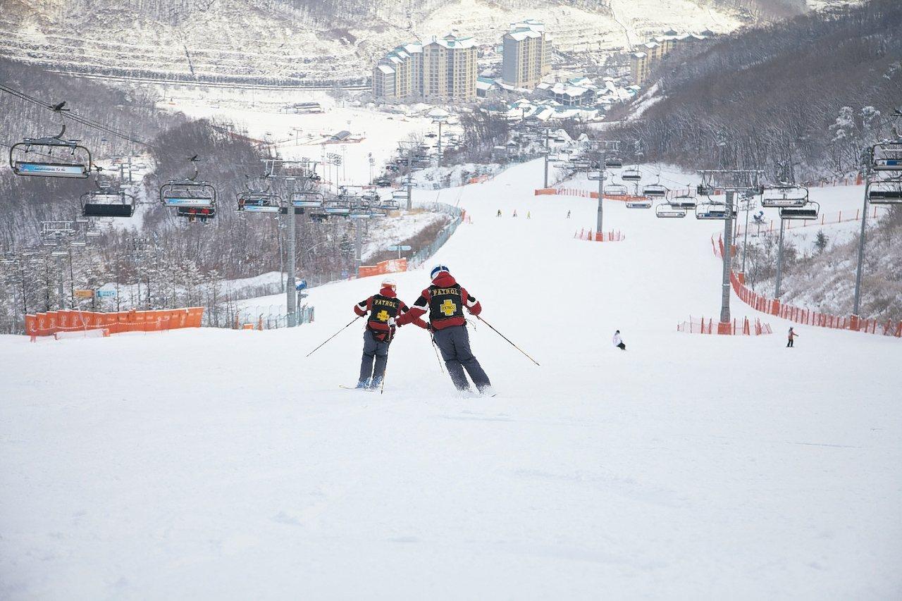 台灣旅遊團常去的昆池岩雪場。 圖/雄獅旅遊提供