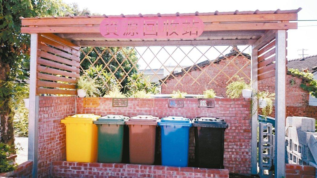 雲林縣環保局在村里廣設資源回收站,力行垃圾減量及資源回收政策。 圖/雲林縣政府提...