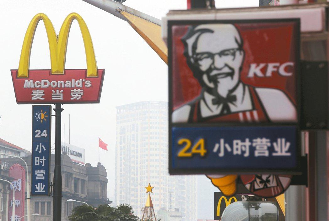 大陸市場食安、商標問題不斷,美企相繼脫售中國資產。 路透