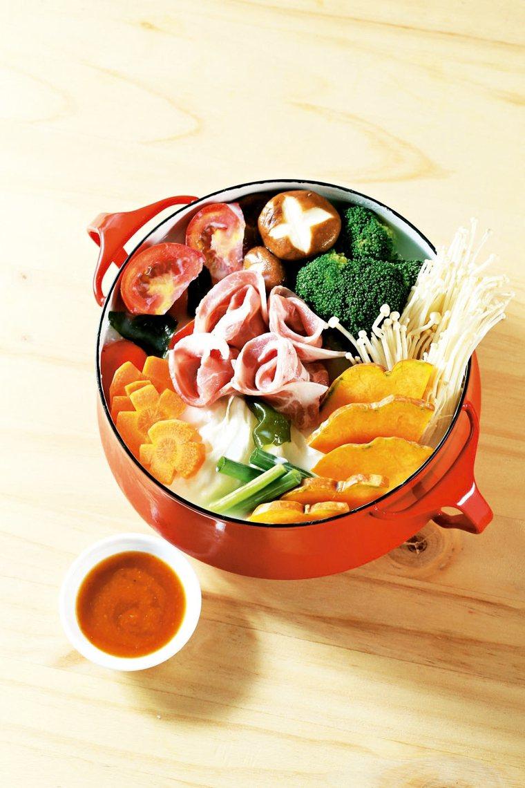 鮮蔬豆漿火鍋(4人份)
