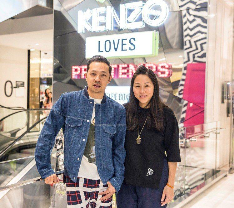 KENZO創意總監Carol Lim(右)、Humberto Leon也非設計師...