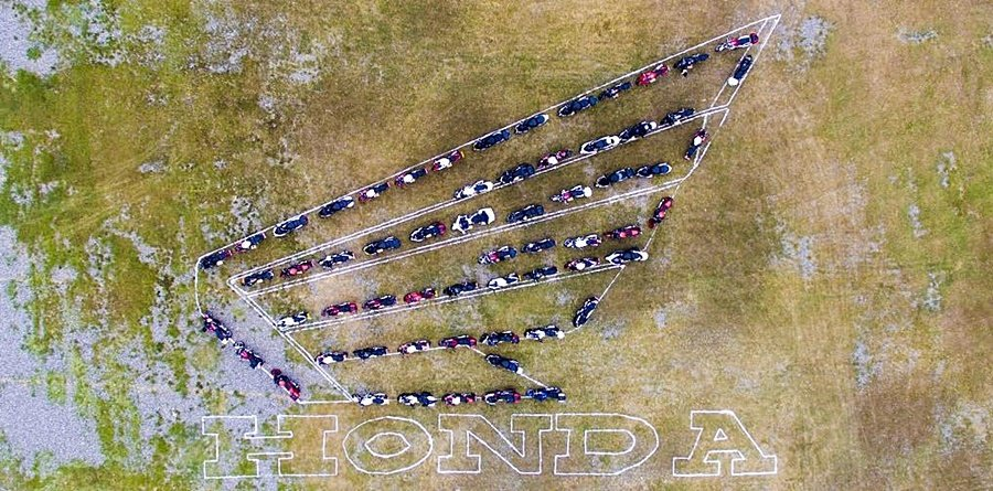 Honda Motorcycle:Be Your Wing。 Honda提供