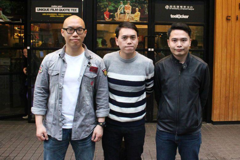 《樹大招風》由三位新人導演許學文、黃偉傑、歐文傑(左起)合拍,出自鮮浪潮,可視為...