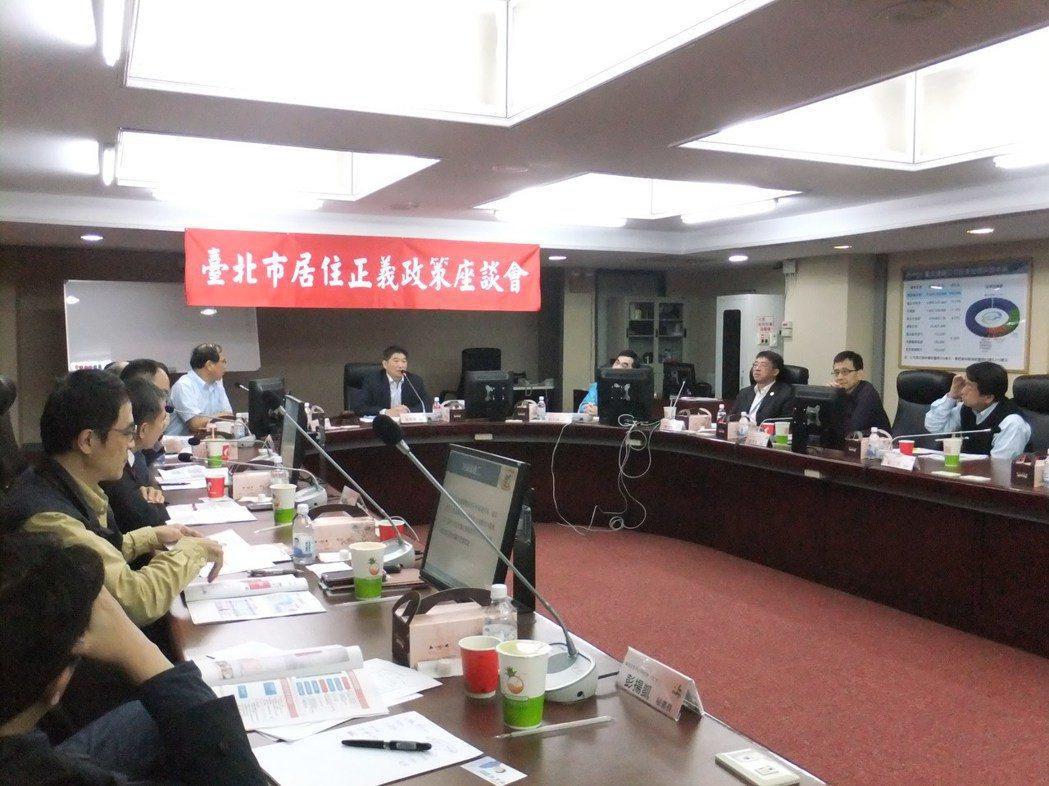 台北市議會今(12)日舉辦居住正義政策座談會。記者游智文/攝影