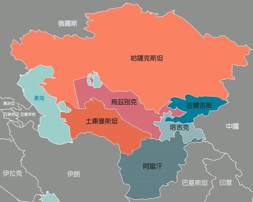 地緣政治複雜的中亞地區。 圖/維基共享