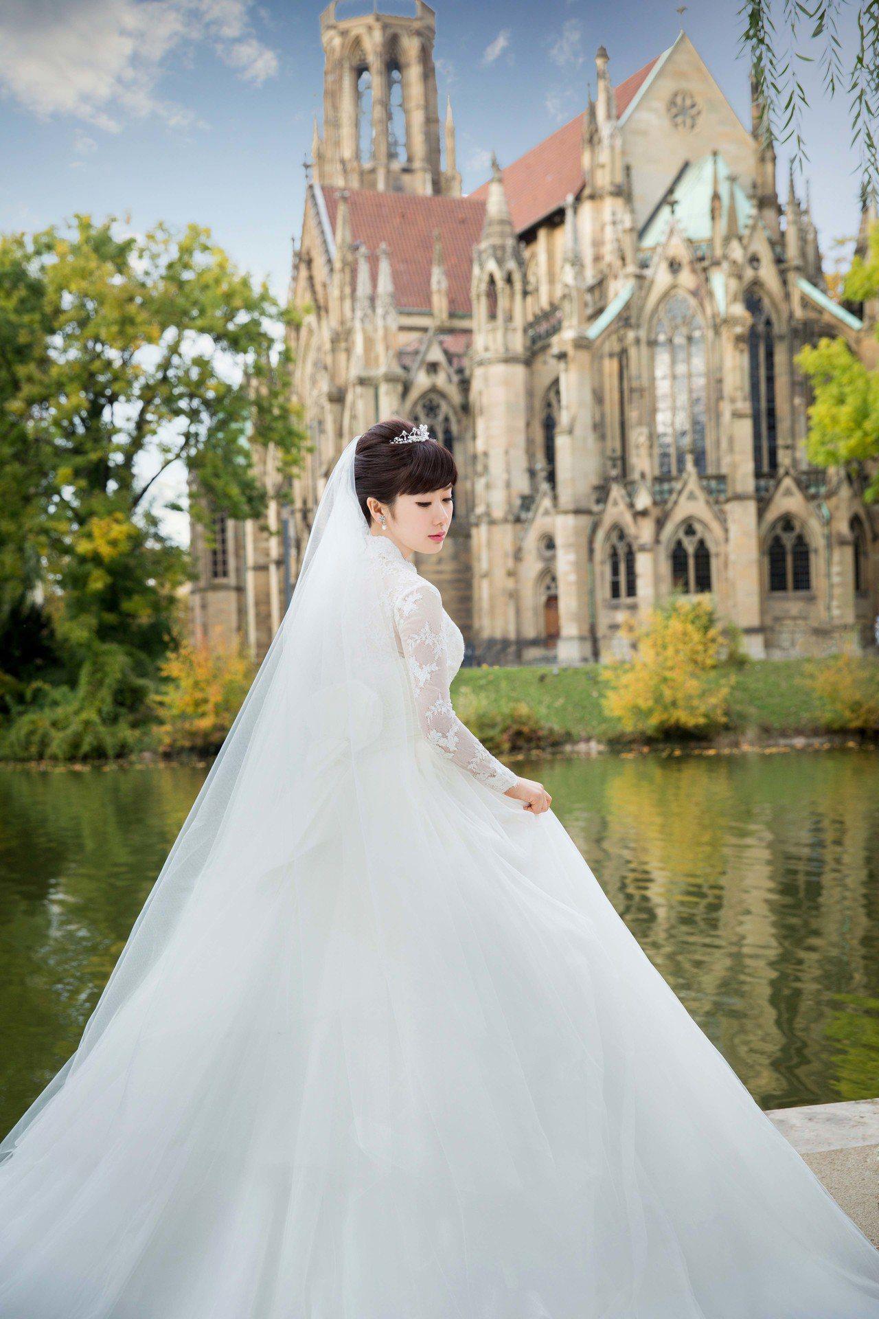 福原愛的婚紗照首度曝光。圖/星予公關提供