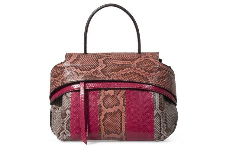蛇皮拼接TODS Wave Bag,售價139,100元。圖/TODS提供