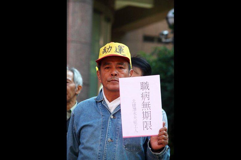前新光化纖工會幹部,吳錦明先生。 圖/張榮隆先生提供