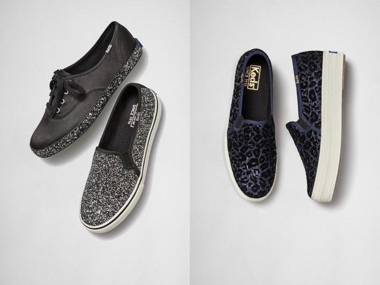 Keds最新登場的亮片鞋,跑趴也時尚。圖/Keds提供