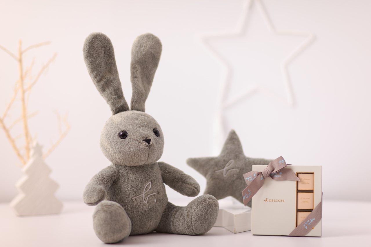 b. DÉLICES 星星兔片裝巧克力組,2,980元。圖/ agnès b.提...