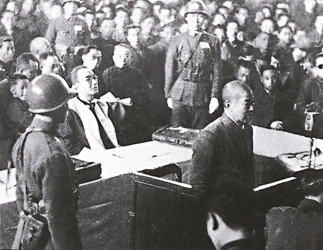谷壽夫在南京軍事法庭接受審判。 圖/取自網路