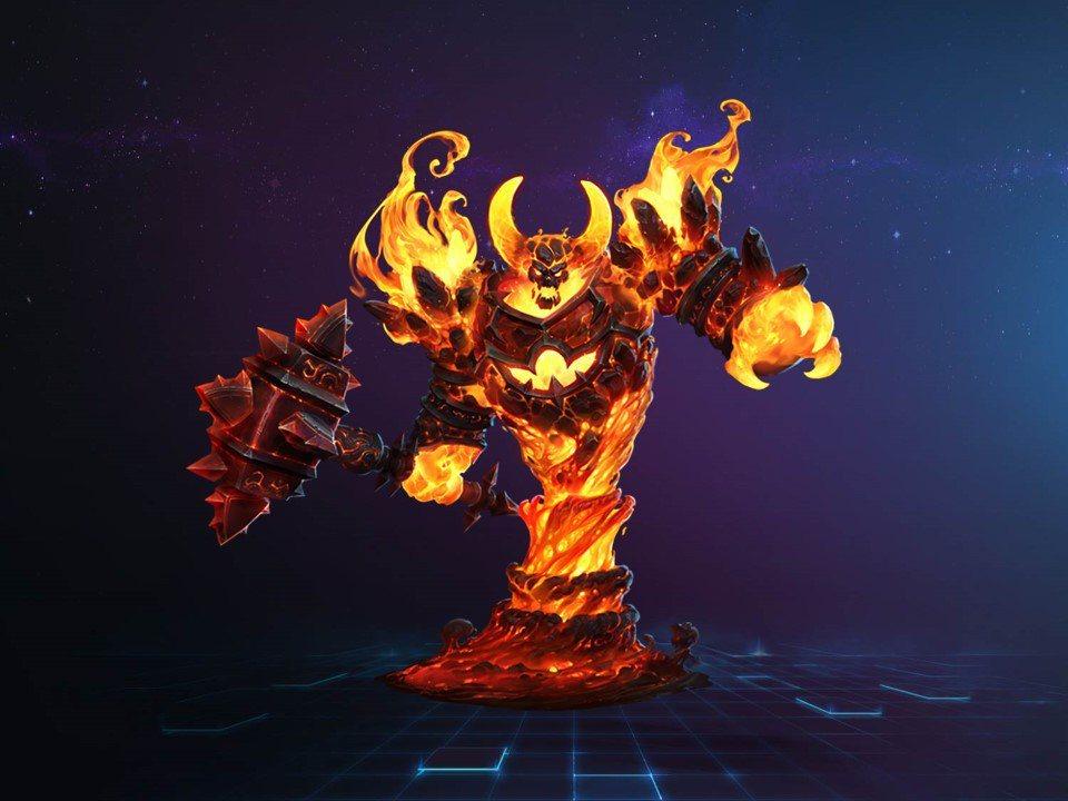 火焰之王「拉格納羅斯」正式加入《暴雪英霸®》戰場。 圖/暴雪提供(下同)