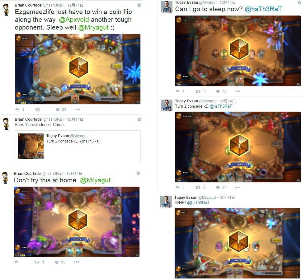 兩人於推特喊話,互相較勁搶奪#1。 圖/截自Th3RaT與MrYagut推特