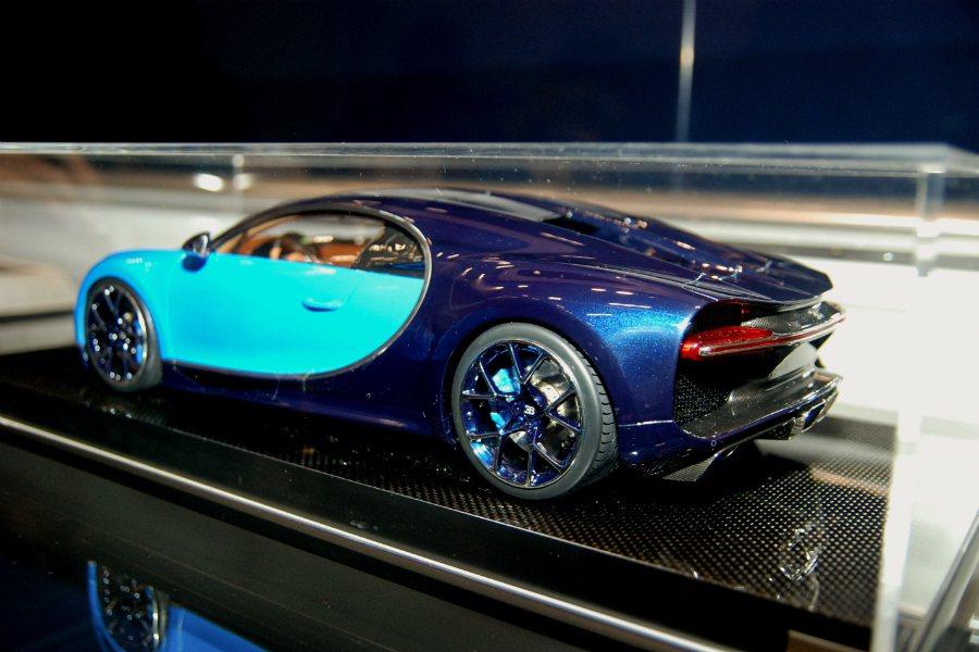 圖為 Bugatti Chiron 的模型。 記者林鼎智/攝影
