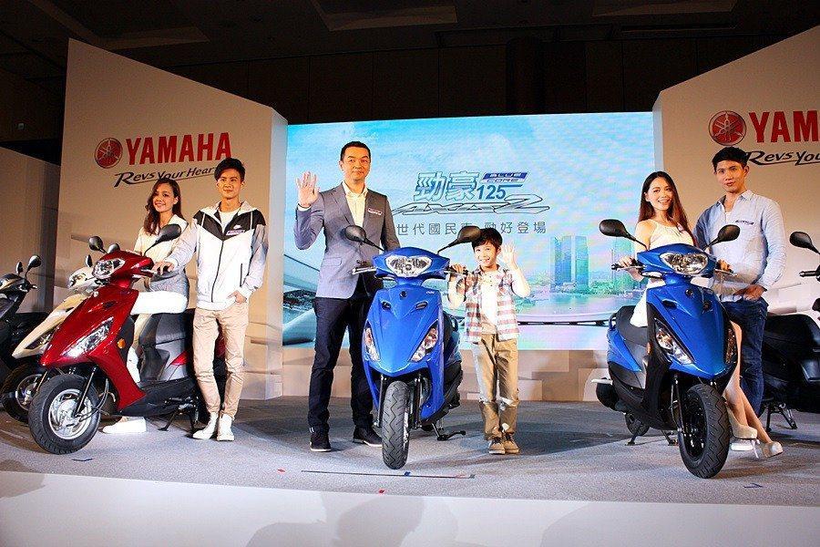 YAMAHA的今年新品勁豪125,銷售成績很不錯。 記者林和謙/攝影