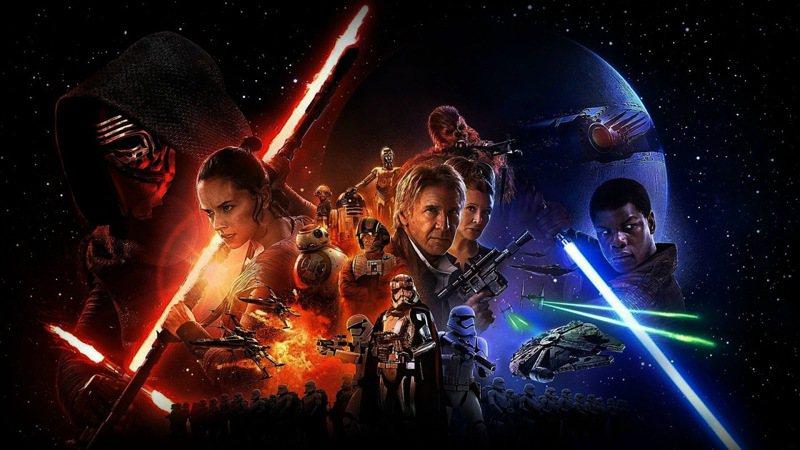 星際大戰本傳電影最新作「Star Wars:原力覺醒」去年大破紀錄,全球影史票房僅次於「阿凡達」、「鐵達尼號」。圖/博偉提供