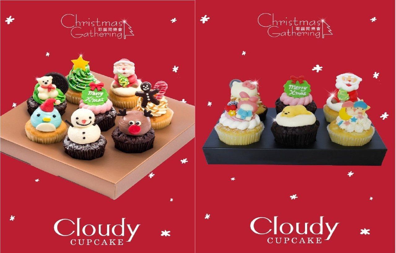 ▲耶誕同樂8入杯子蛋糕禮盒/三麗鷗耶誕趴6入杯子蛋糕禮盒