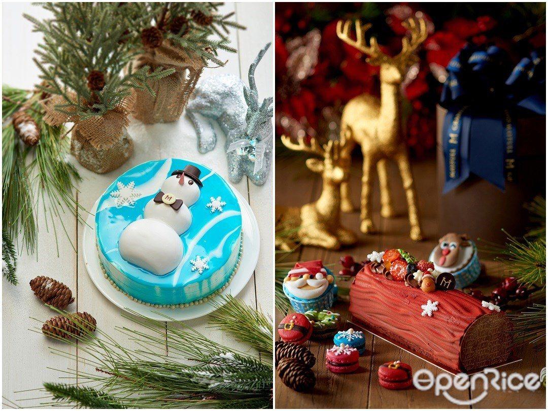 ▲喬裝成雪人的布丁奶酪、薑餅人聖誕派等甜點吃到飽