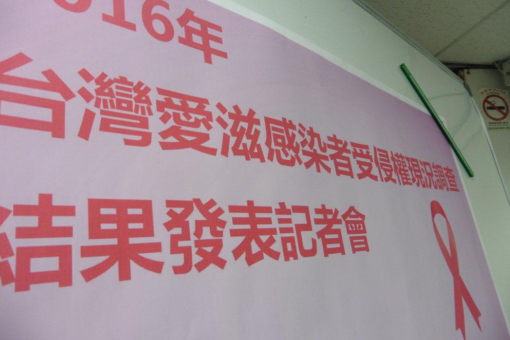 今愛滋感染者權益促進會公布2年一次的「台灣愛滋感染者受侵權現況調查」,發現感染者...