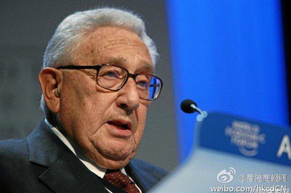 季辛吉:中美如果衝突 世界就會分裂