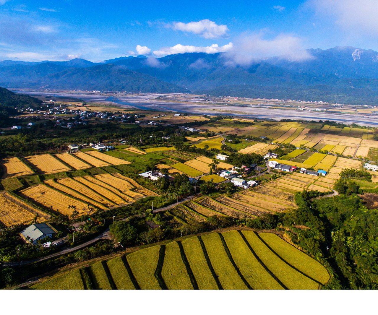 193縣道玉里段空拍,佳作楊宇芳拍攝。圖/玉溪地區農會提供