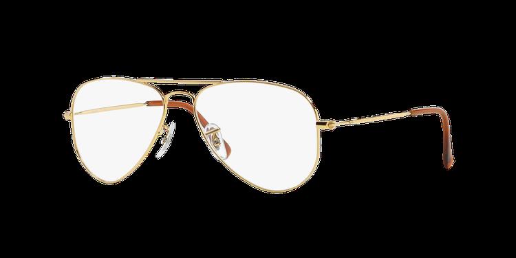 RayBan經典經典飛行員平光眼鏡款,價格未定。圖/LUXOTTICA提供