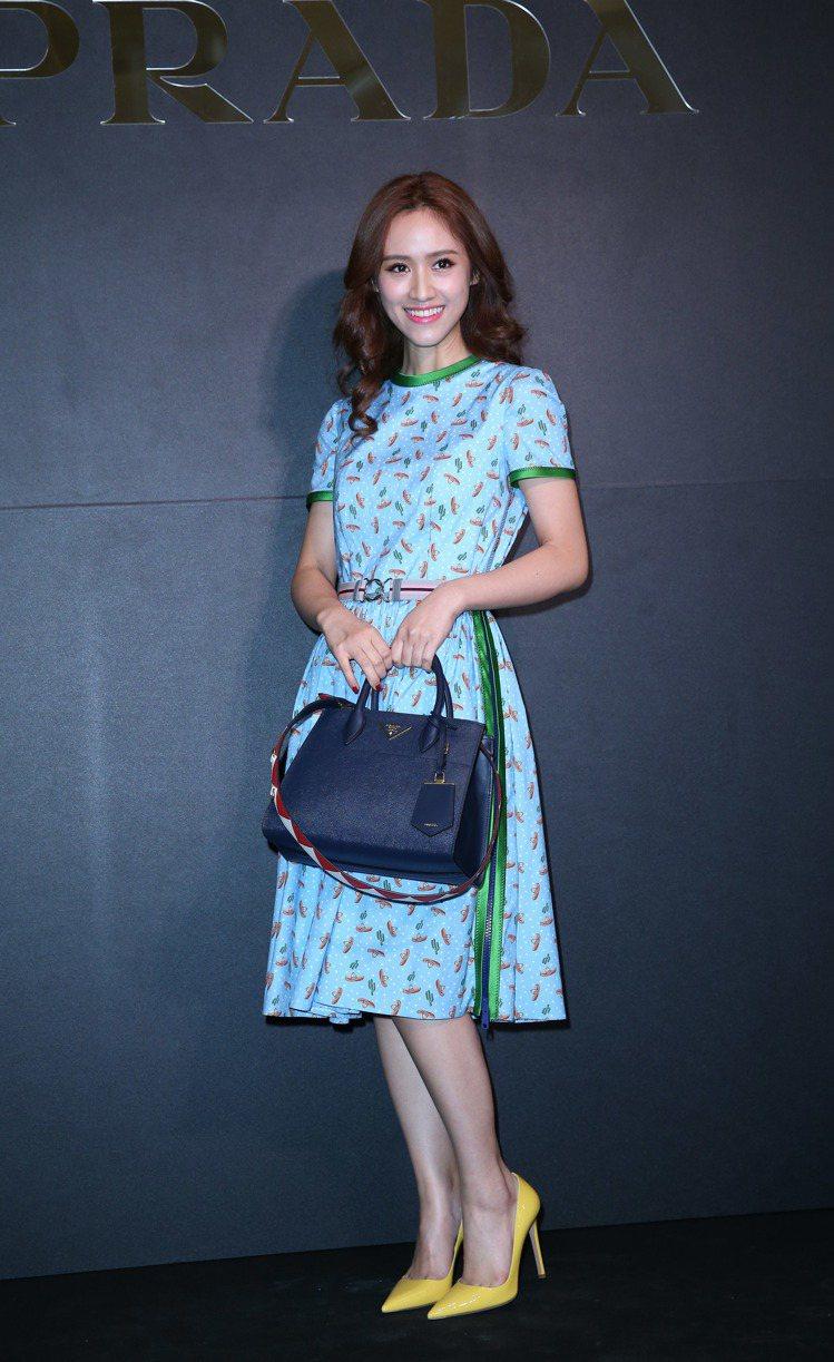 吳姍儒穿PRADA印花洋裝。記者陳瑞源/攝影