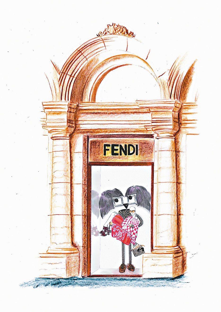 FENDI耶誕櫥窗。 圖/業者提供