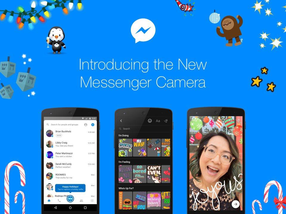 Messenger今天將推出全新內建相機功能Messenger Camera。圖...