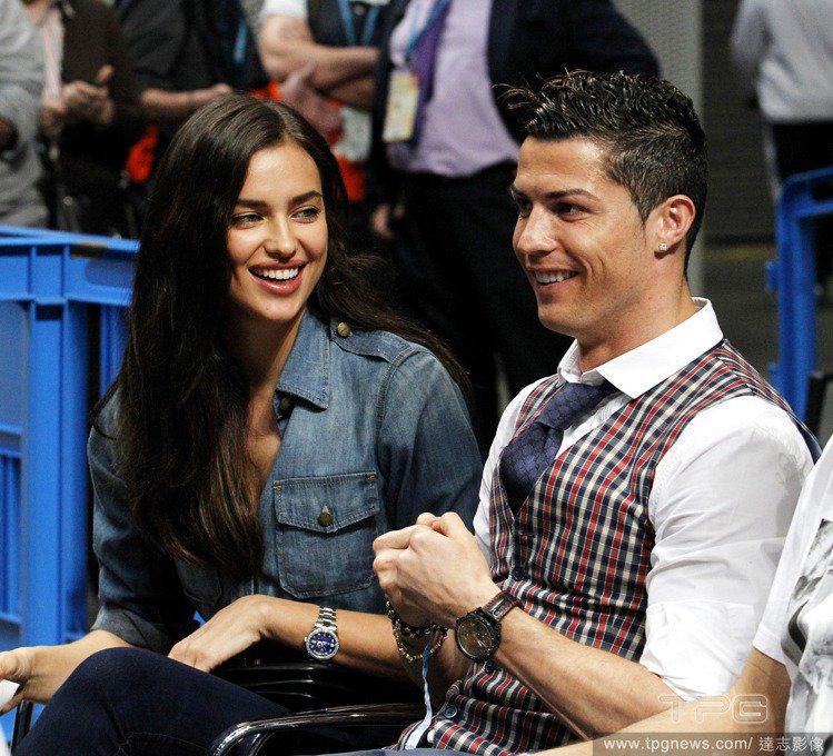 葡萄牙球星C羅和伊蓮娜5年的感情如今已成往事。圖/達志影像