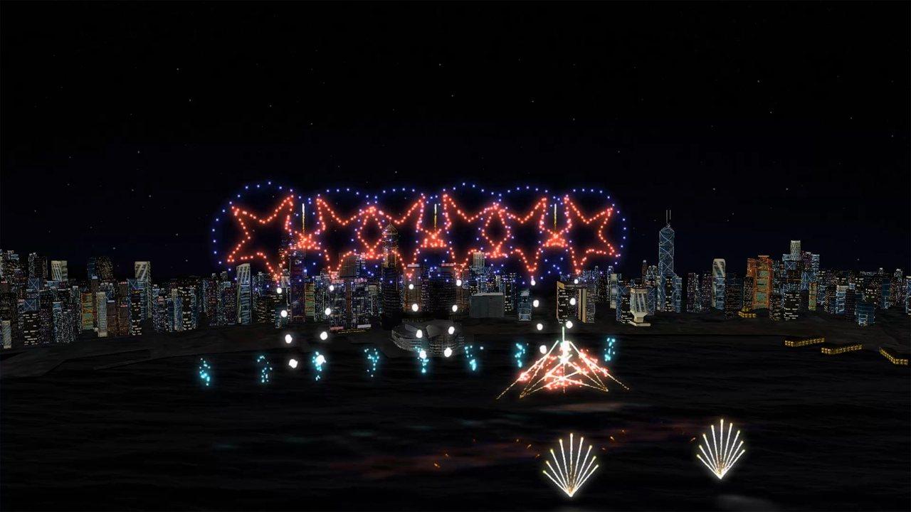 「六星連環」是今年新增的煙火樣式。圖/香港旅遊發展局提供