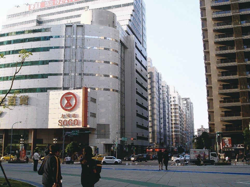 中壢SOGO百貨商圈。 報系資料照