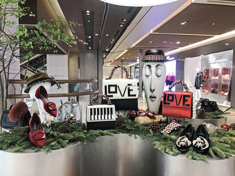 CLUB DESIGNER於耶誕節期間成立Rockins絲巾快閃店中店。圖/CL...