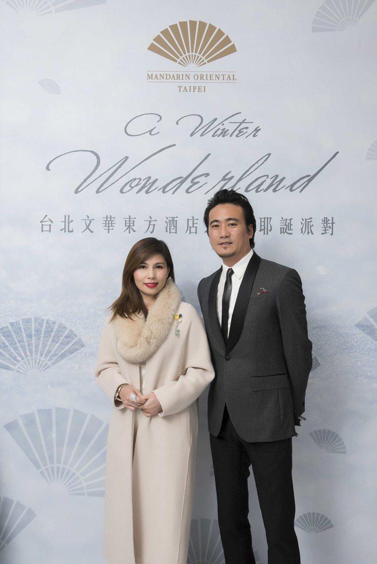 知名珠寶設計師林曉同伉儷。圖/台北文華東方酒店提供