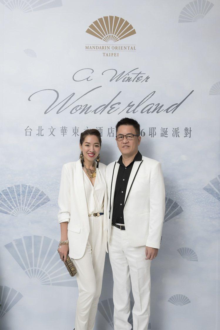 老虎牙子創辦人林志隆與未婚妻劉伊心。圖/台北文華東方酒店提供