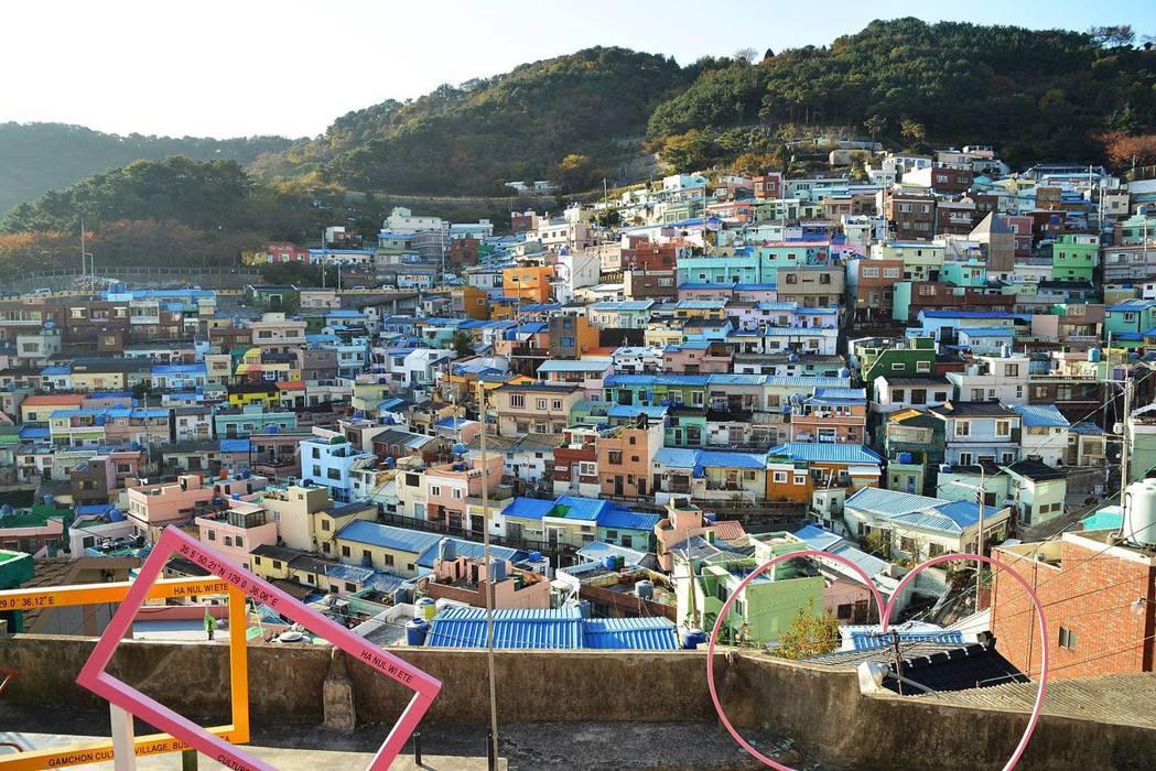 甘川洞文化村是釜山必去景點之ㄧ。記者劉孟玲/攝影