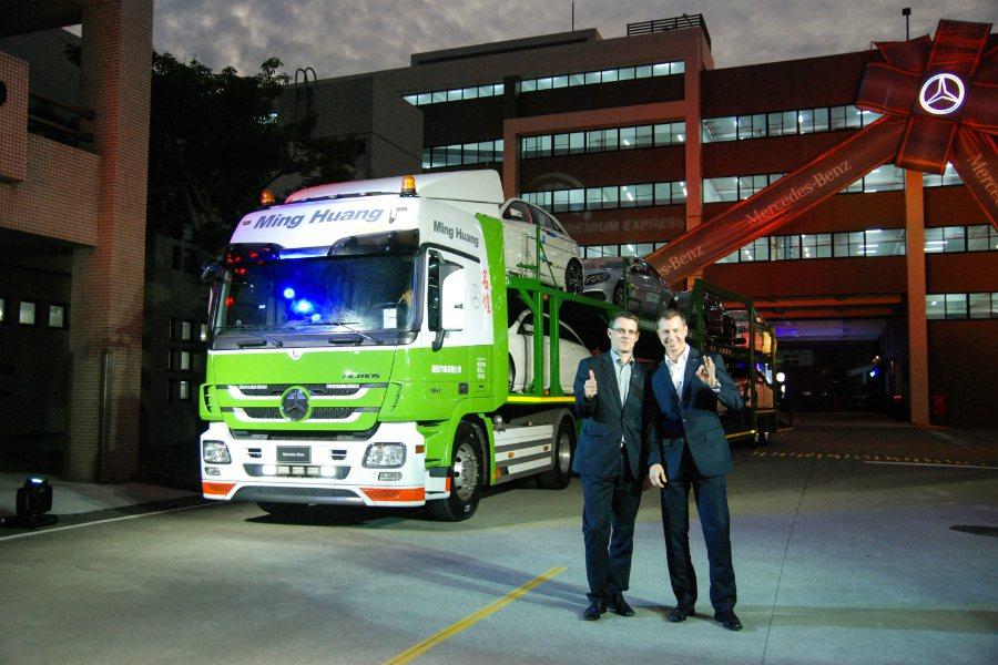 台灣賓士啟用自有保稅倉庫與預約快保服務,提供更優質的新車整備與客戶體驗。圖為Me...