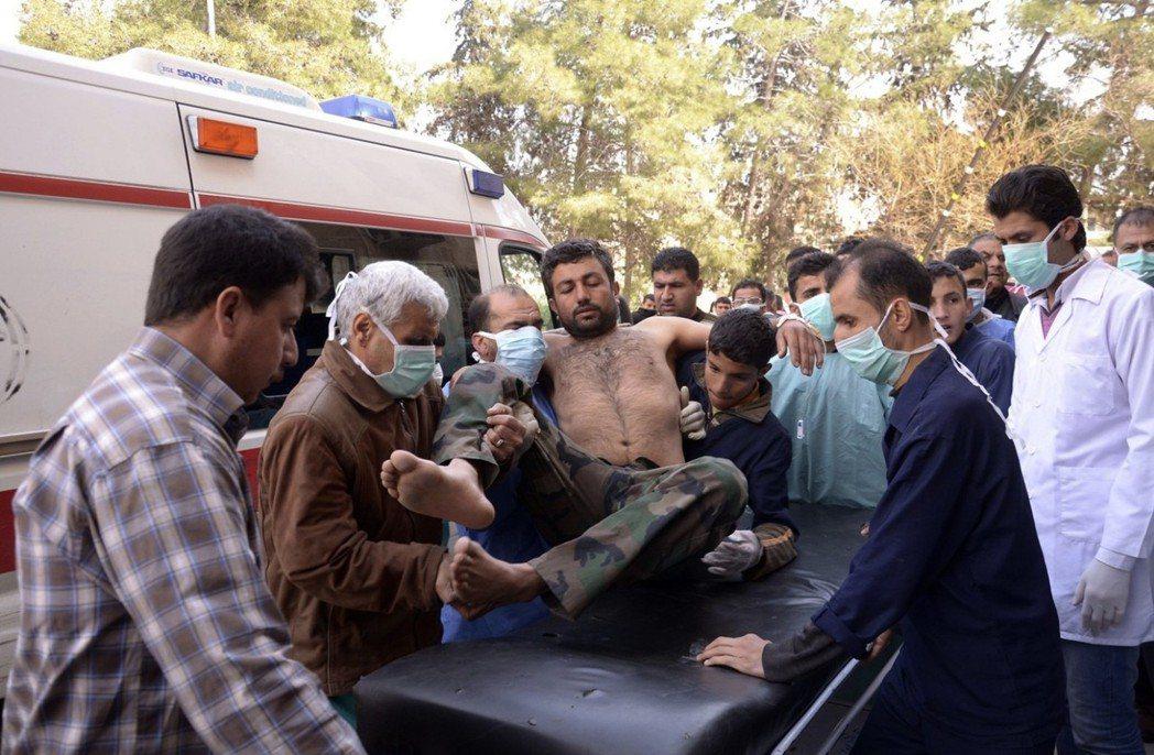2013年,阿勒頗地區傳出了第一件受到國際重視的「化武攻擊」。 圖/路透社