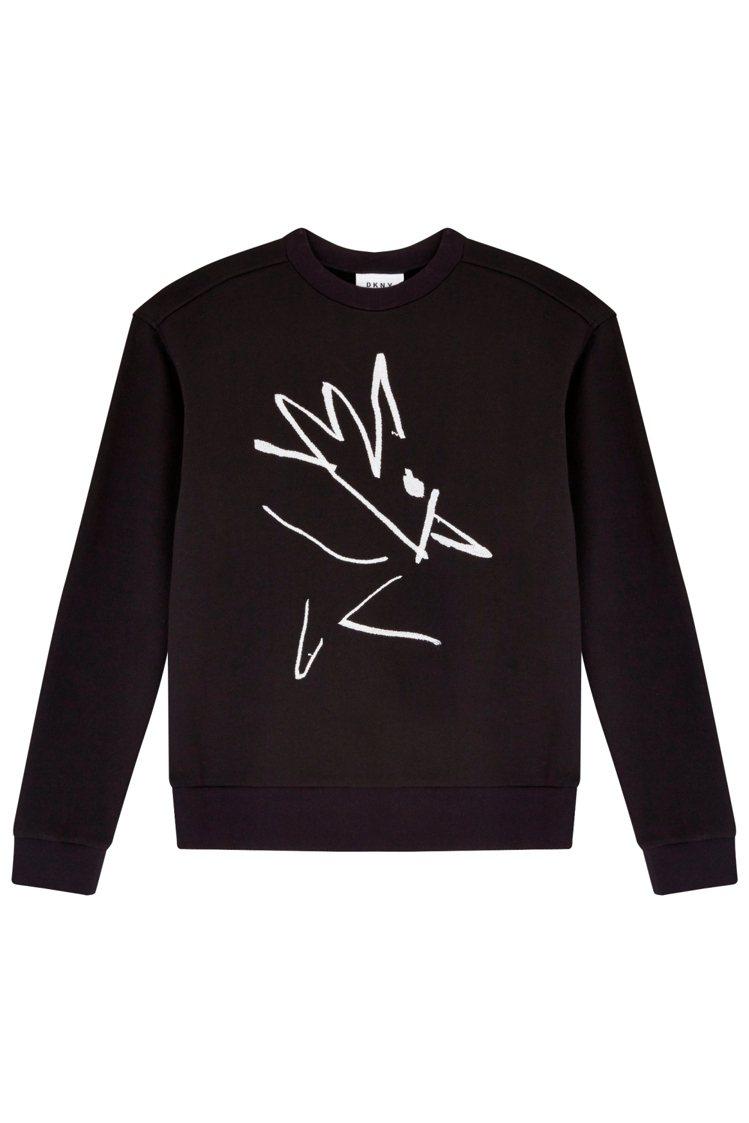 DKNY 雞年手繪圖騰毛衣,18,290元。圖/DKNY提供
