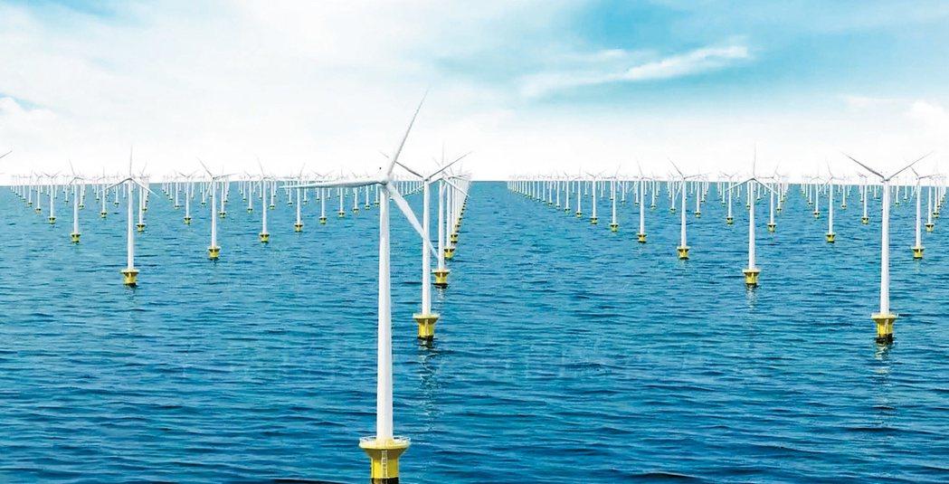 台電將在彰化外海設置240部風機。 圖/記者簡慧珍翻攝