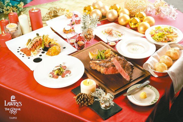 勞瑞斯餐廳將在12月23日晚餐至12月25日全天餐期,推出耶誕大餐。 圖/勞瑞斯...