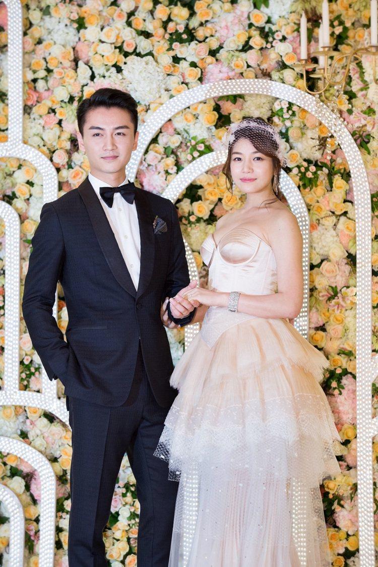 藝人陳妍希和陳曉。圖/資料照片