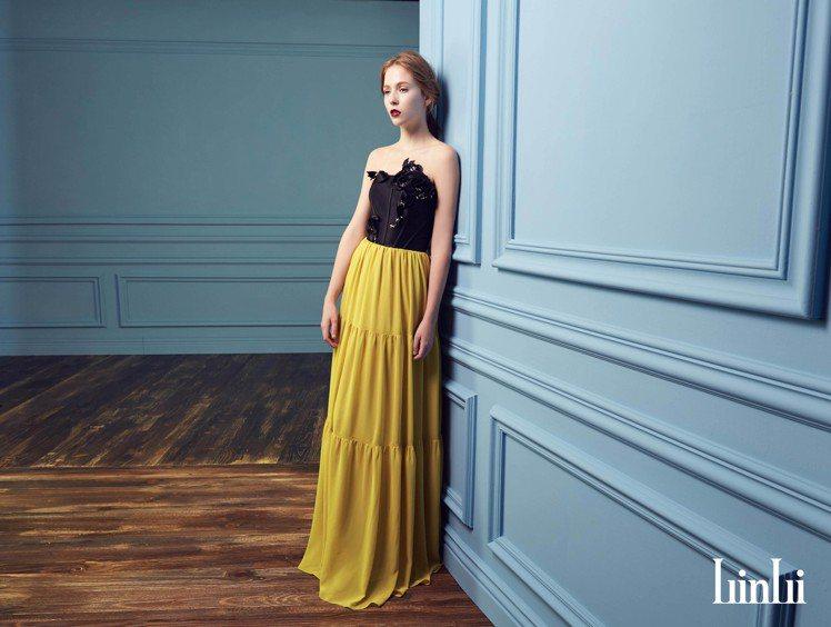 年底派對季節登場,出租禮服既美麗又划算。圖/林莉婚紗提供