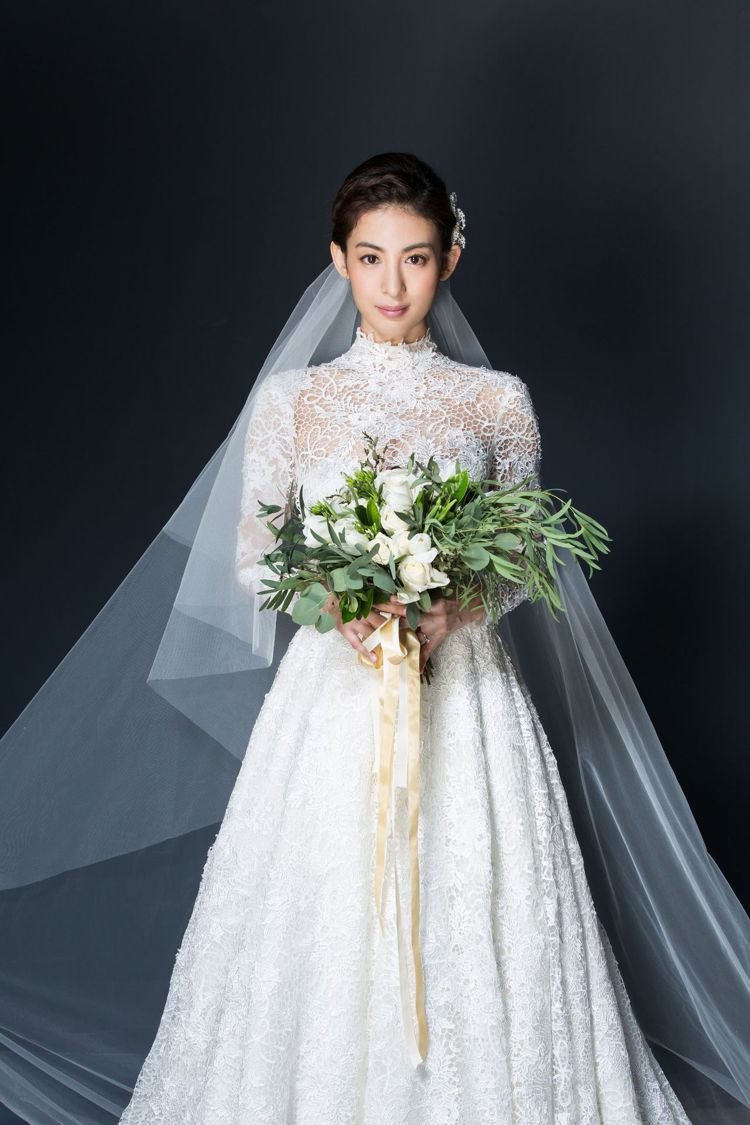 大久保麻梨子婚紗照曝光。圖/鵲兒喜娛樂提供