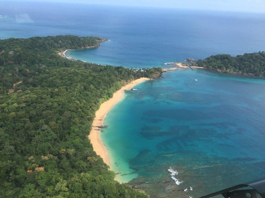 聖多美普林西比島俯瞰。圖/取自台灣駐聖多美普林西比醫療團網站