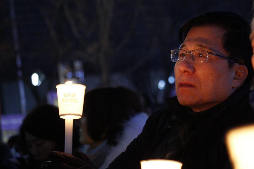 「我還有很多話想說,我只能講到這裡做為結尾。」奉信民主自由的辛京珉,也參加了連續...