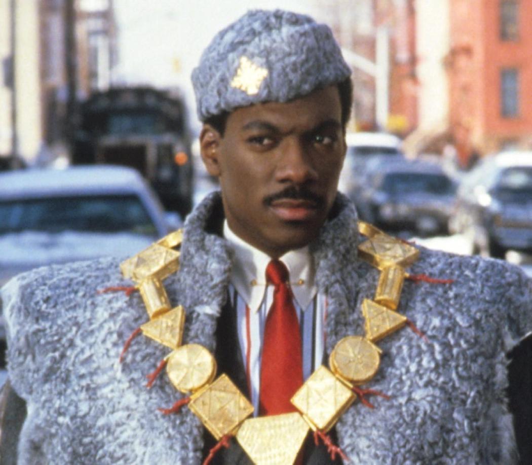 艾迪墨菲在「來去美國」飾演非洲王子。圖/擷自New York Daily New...