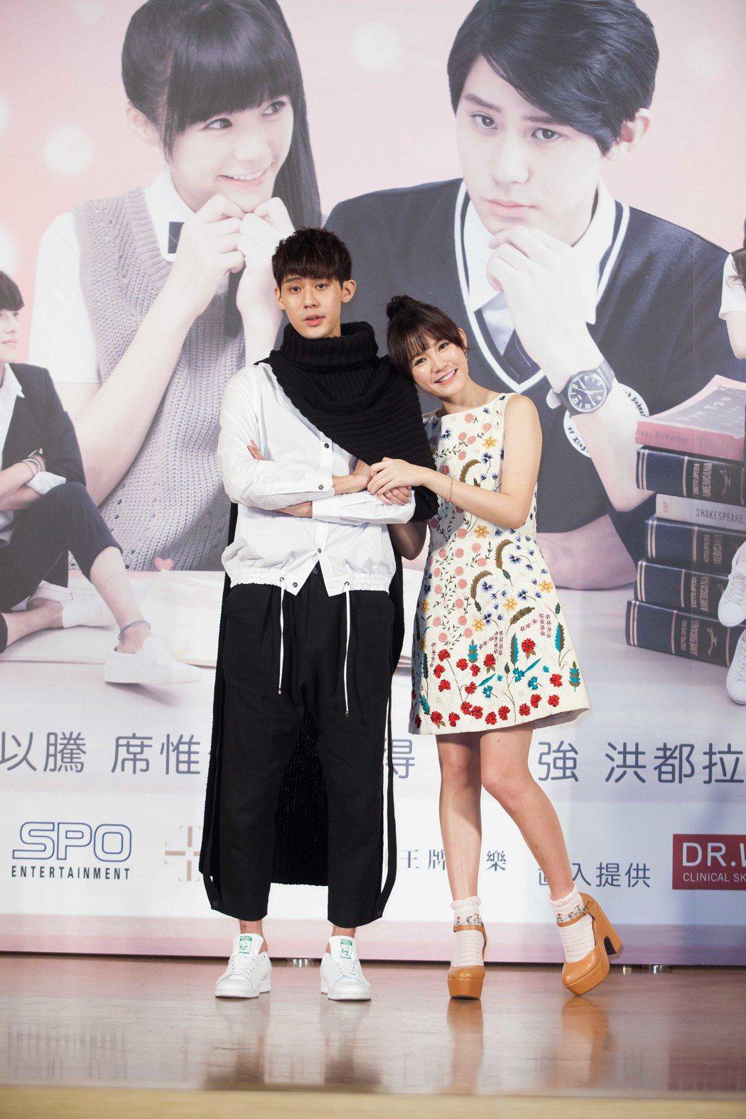 李玉璽(左)、吳心緹被爆假戲真做。圖/王牌娛樂提供