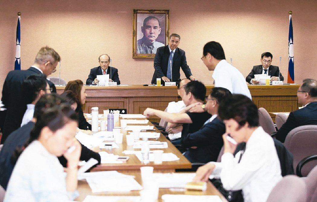 立院於9月13日開議,國民黨提優先法案95案。 報系資料照